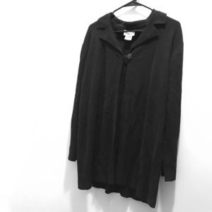 Jaclyn Smith Black one button cardigan